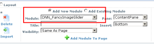Add Fancy Image Slider to Page